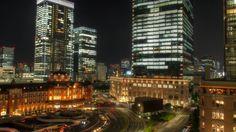 HDRTS -hdr&tiltshift- 新丸ビルテラス7Fからの東京駅夜景