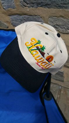 Vintage Hawaii souvenir flat brim baseball hat   .....................Please save this pin.   .............................. Because for vintage collectibles - Click on the following link!.. http://www.ebay.com/usr/prestige_online