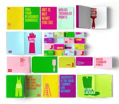 reynolds and reyner developed this colorful and quirky identity system for waldo trommler paints.