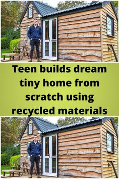 Teen #builds dream tiny home from #scratch using recycled #materials
