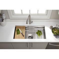 Kohler K-5540-NA Prolific Stainless Steel Undermount Single Bowl Kitchen Sinks | eFaucets.com