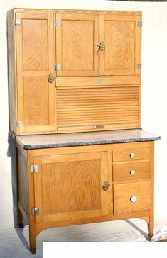 antique oak Hoosier cabinet. Looks just like the one at my house.