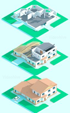 Isometric House Assembly on Behance