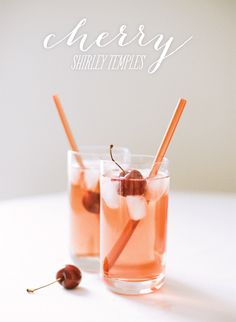 Cherry Shirley Temples in celebration of our Kid Happy Valentine's Party!     http://www.stylemepretty.com/2013/02/10/smp-at-home-valentines-day-recipes-for-kids/    Photography By / http://whiteloftstyle.com