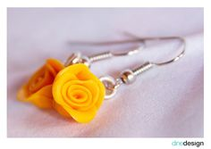dinedesign - Earrings - rose yellow