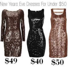 """""""New Years Eve Dresses For Under $50! **Click the pin for links to any of the the dresses**"""" by alyssanicolesmith on Polyvore"""