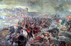 """""""Bitwa pod Chocimiem"""" 1673 art by Jerzy Kossak"""