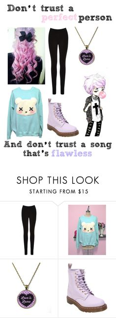"""""""Lane Boy // Twenty One Pilots (Also my second try to Pastel Goth)"""" by im-punk-not-dead ❤ liked on Polyvore featuring Oasis and Dr. Martens"""