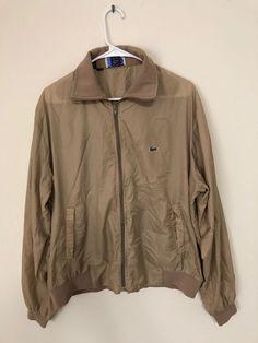 f8e774232 Vintage Izod Lacoste Size XL Light Windbreaker Jacket Brown 80s 90s Old  School  IzodLacoste