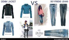 The denim jacket VS the boyfriend jeans Wat kies jij? kijk op www.vimodos.nl