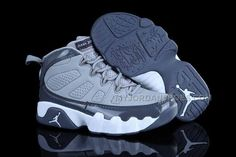 8d176a534d66fc Online Nike Air Jordan 9 Kids Grey White