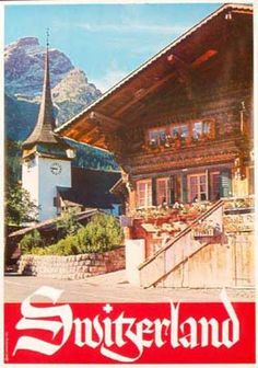 GSTEIG,Switzerland 1960s Poster. I had this very poster on my ceiling when I attended college in Steamboat Springs,Colorado.Years later when I was living in Switzerland I stopped by this hotel to see it up close.Gstaad is just down the road a ways.