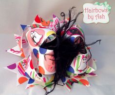 5 halloween holiday boutique style ott hair bow by HairbowsByAsh