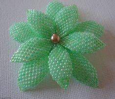 Bijuterii tutorial ciubuc - Delica si seminte margele Double Flower - bijuterii margele