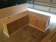 Finished Corner bench… Only thing left is the install and paint. The ...