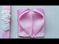Ribbon Art, Ribbon Hair Bows, Diy Hair Bows, Diy Bow, Diy Ribbon, Ribbon Crafts, Kanzashi Tutorial, Hair Bow Tutorial, Ribbon Embroidery Tutorial