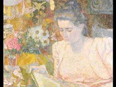 Artwork by Jan Toorop, Portret van mevrouw M. de Lange - Portrait of Mrs M. de Lange, 1900 Made of oil on canvas Art Nouveau, People Reading, Oil On Canvas, Canvas Art, Poster Prints, Art Prints, Posters, Dutch Painters, Paintings
