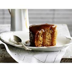 Caramel banana steamed pudding recipe - By Australian Women's Weekly