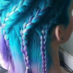 aqua and purple hair color aquamarine arctic fox - Looking for Hair Extensions to refresh your hair look instantly? KINGHAIR® only focus on premium quality remy clip in hair. Visit - - for more details. Pretty Hairstyles, Braided Hairstyles, Brunette Hairstyles, Wedding Hairstyles, Wedge Hairstyles, Updos Hairstyle, Asymmetrical Hairstyles, Hairstyles 2018, Funky Hairstyles