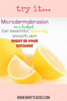 Microdermabrasion is a wonderful skin procedure that helps slough off the outer layer of dead skin on your face (or body). It leaves your skin feeling baby smooth. all while revealing fresh. healthy and glowing skin. These procedures are traditionally only done by estheticians and dermatologists. which can get pretty expensive. Try this DIY face mask recipe using baking soda at home for smooth skin!