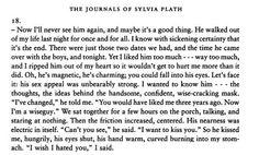 Slyvia Plath - I wished I hated you