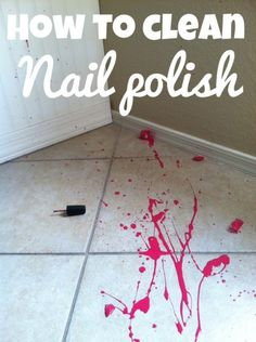 How to clean nail polish