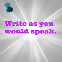 So read what you've written out loud. http://caroleseawert.co.uk #writing #copywriting