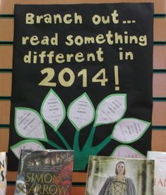 New Year book display