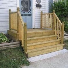 Great how to guide on adding steps to the front of your mobile home!
