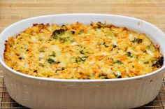 Chick pea and brocolli casserole:  good hot or cold.