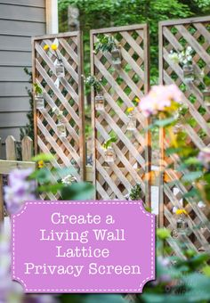 Create a Living Wall Lattice Privacy Screen | Pretty Handy Girl ~ Did you see the Living Wall Lattice Privacy Screen I created for our new patio? It was so easy to install that I'm kicking myself for not thinking of the idea sooner. I'm just happy to have it now as it gives us a little more privacy and a cozy intimate feeling on our patio.