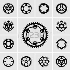 Set of sprocket icons. Stock Photo - 19413166