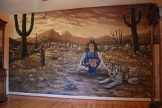 Southwest Themed Wall Mural by Tom Taylor of Wow Effects, hand-painted in Virginia