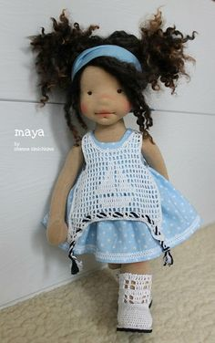 Fabric Dolls, Paper Dolls, Art Dolls, Rag Doll Tutorial, Crochet Doll Clothes, Waldorf Dolls, Doll Patterns, Beautiful Dolls, Diy
