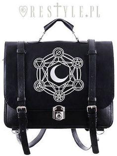 d67ba7975b33 Restyle moon punk alchemical symbols emo messenger satchel bag purse handbag