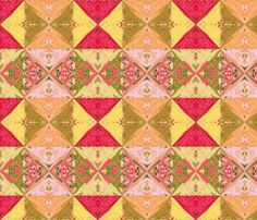 Pomegranate Quilt fabric by animotaxis on Spoonflower - custom fabric