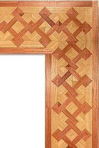فلتو هندسى مكون من خشب أرو يتخلله خشب موجنة.