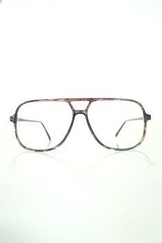 2764e732f7 Mens Vintage Glasses 80s Oversized Aviator Eyeglasses Mens Vintage Frames