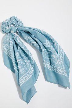 "PAIR PIGTAIL SET 2/"" BLUE TURQUOISE MERMAID PEARL SCALES HAIR BOW CLIP GRIP SLIDE"