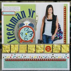 high school scrapbook pages | scrapbook pages for school days
