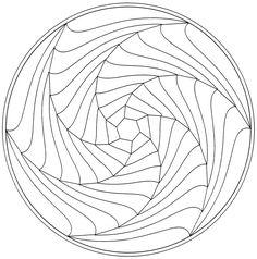 Coloring Pages Mandala Simple Mandala Optical Illusion Mandalas Adult Coloring Pages Geometric Coloring Pages, Mandala Coloring Pages, Colouring Pages, Printable Coloring Pages, Adult Coloring Pages, Coloring Books, Free Coloring, Coloring Sheets, Mandala Pattern