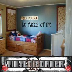 The faces of me Wall Quote Mural Decal