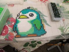 Perler bead penguin by ndbigdi on deviantart