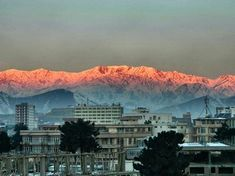 Kabul - sunlight on the mountains