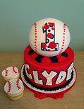Slice | CAKE GALLERY baseball first birthday cake
