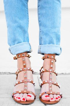 0b115eeb88b Perfect Denim Outfit for Summer. Valentino ShoesValentino Rockstud ...