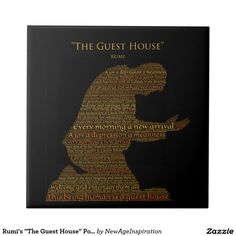 """Rumi's """"The Guest House"""" Poem Tile"""