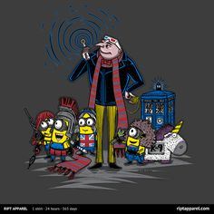 Available for Today Only: Two Amazing Doctor Who ' Despicable Me Designs From RIPT | DAVID TENNANT NEWS UPDATES
