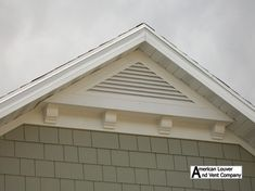 Photos showcasing some of our gable vents. Our aluminum gable vents enhance everything from starter homes to high end homes! From the smallest to the largest gable vents we do it all! Craftsman Exterior, Cottage Exterior, Exterior Trim, Exterior Design, Craftsman Style, Corbels Exterior, Exterior Colors, Exterior Homes, Gable Trim