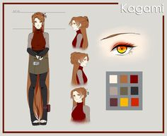 Kagami Reference by Lumaki-san.deviantart.com on @DeviantArt                                                                                                                                                                                 More